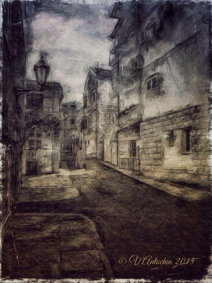 Old Town Baska Voda.(Croatia)