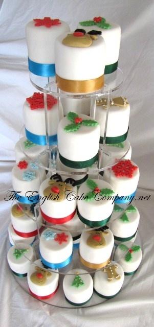Mini Christmas cake tower