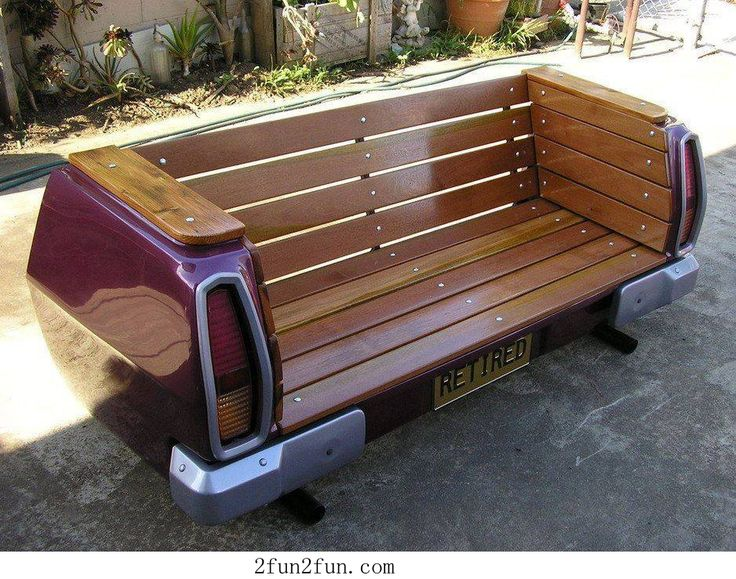 DIY bench chair - sweet!