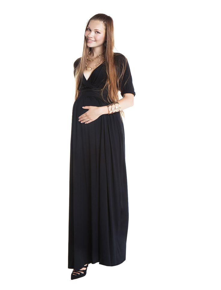 Jasmine maxi jersey dress - black - day&night - during&after pregnancy - chic mum - check now! www.nanarisematernity.com