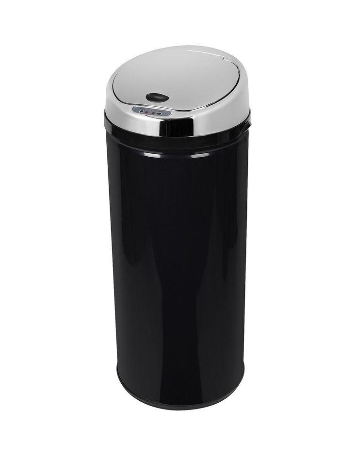 Morphy Richards 42-Litre Round Sensor Bin - Black | very.co.uk
