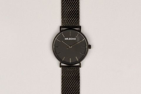 BO BLACK WATCH. MENS COLLECTIONS. SUMMER . MENS WATCH.MR.BOHO