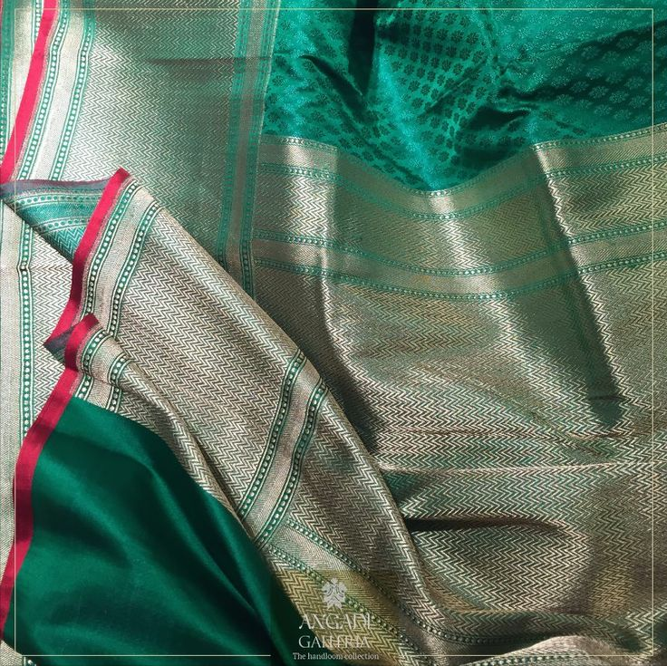 #HandloomEdition : Hailing from the city of Banaras, synonymous for its finest weaves, this pure Silk #Banarasi Saree features self colour brocade through the body with intricate Zari weaves on the pallu and border accentuated with bright red accent on the selvedge. Thus making it a fine choice for the bride-to-be.