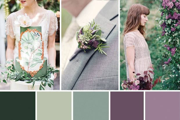 Today's palette of a Fairytale Purple and Green Wedding inspires you to bring a perfect grown-up fairytale come to life...