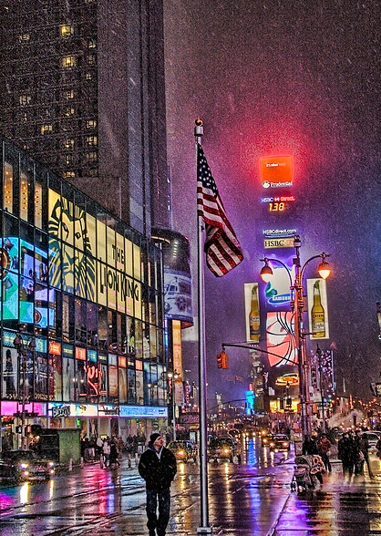 New York City during the winter time.