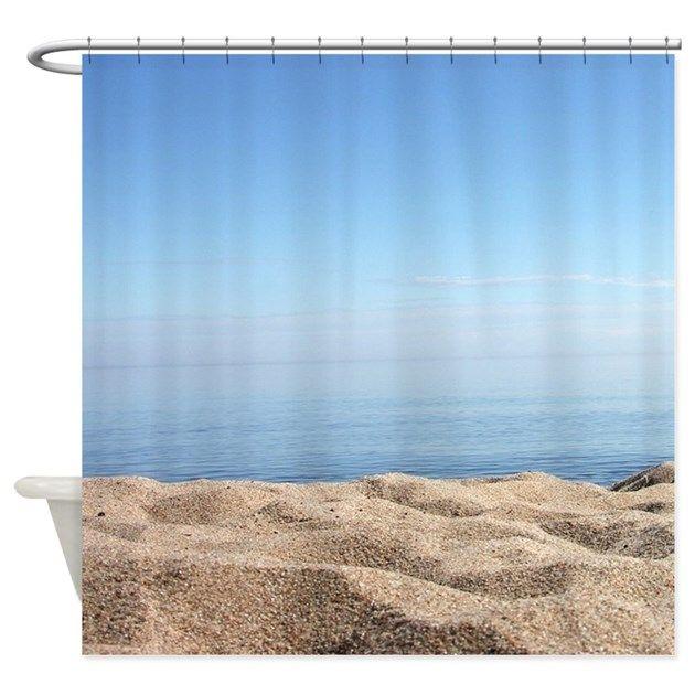 Sand Shower Curtain - beach, waves, sea