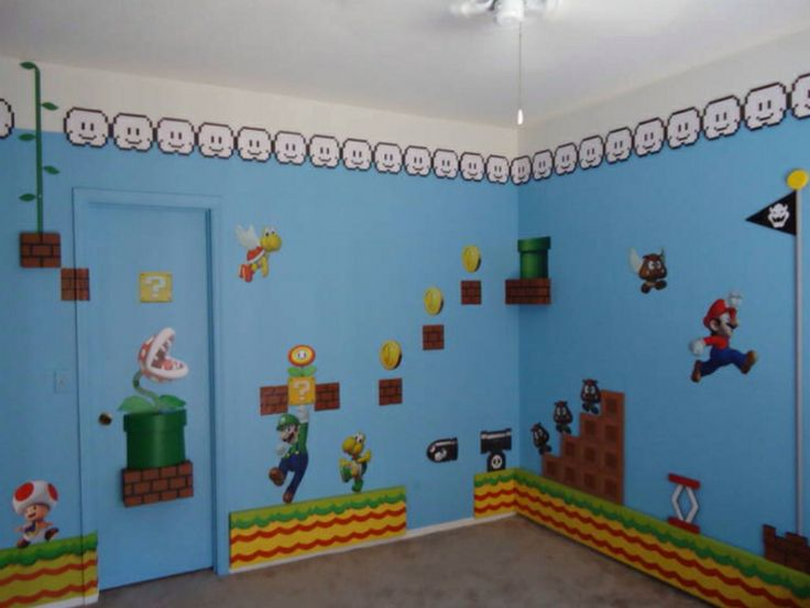 Super mario bedroom