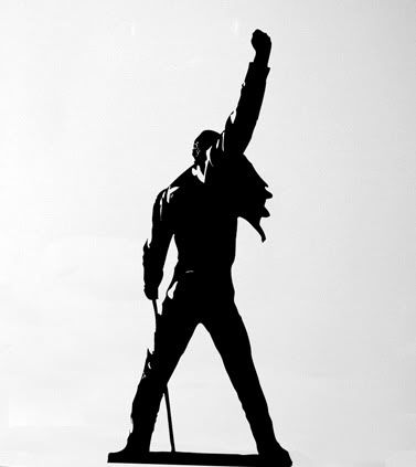 want this as a Freddie Mercury tattoo with a watercolor rainbow background
