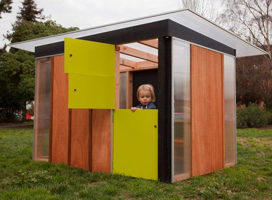Would love to have a mini modern playhouse in our yard one day!