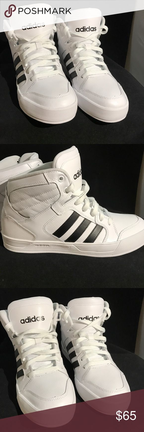 Adidas Mid Top Raleigh Sneaker Adidas Mid Top Raleigh Sneaker Brand New Never Worn Women's Size 9.5 No Box No Trades These girls' shoes re-create old-school basketball sneakers with a modern feel. They have a clean mid-cut hoops look with a padded collar and oversize tongue. Soft leather upper Comfortable textile lining Cushioning insole Mid cut Rubber outsole Adidas Shoes Sneakers