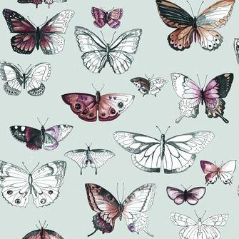 Papierbehang 50-659 Butterflies Orange Karwei