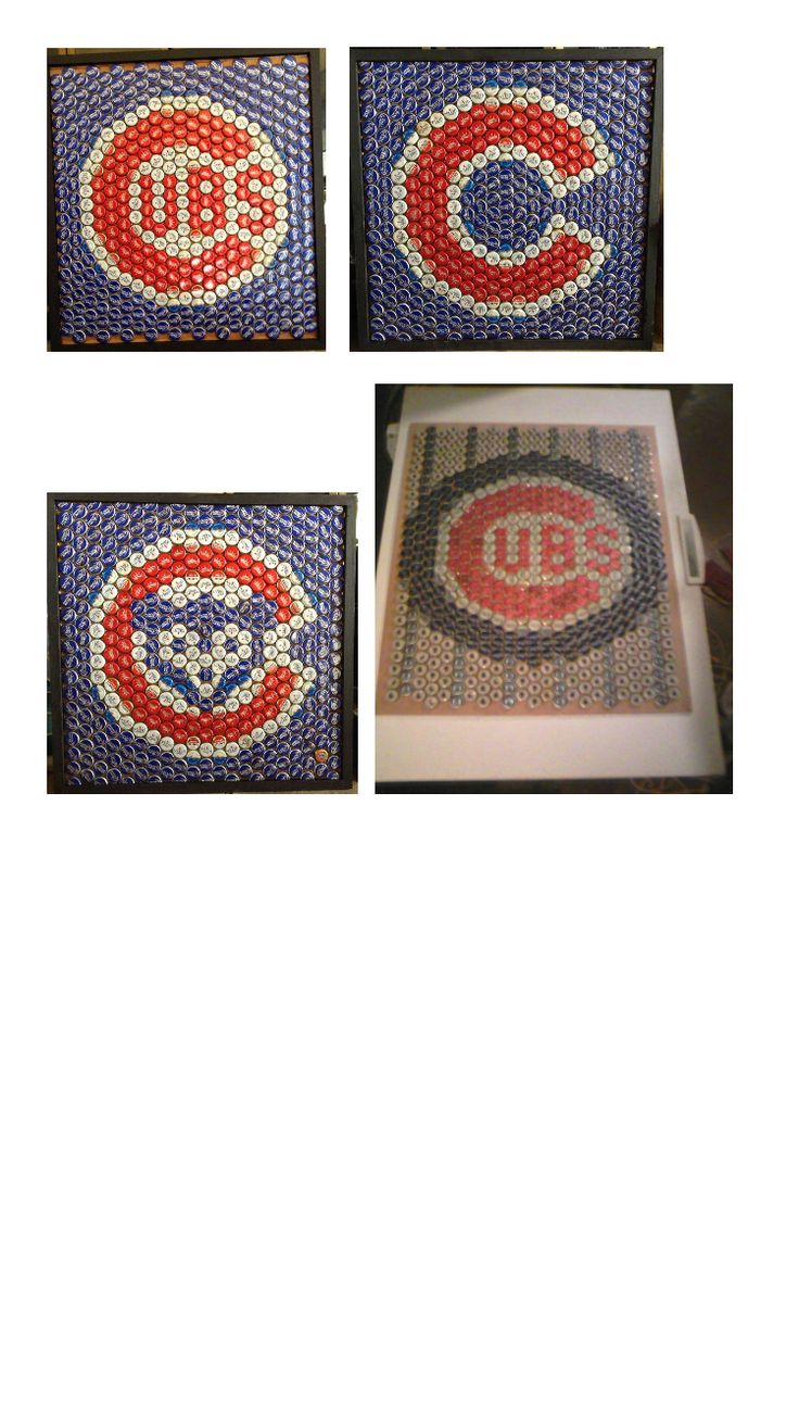 Cubs bottle cap sign idea