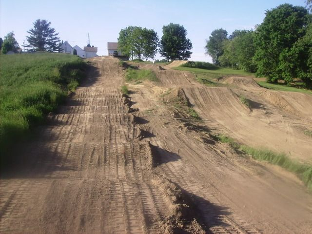 dirt track. exactly why I want some land when we buy a house :) Oh my, my future kids are going to love this ;) haha
