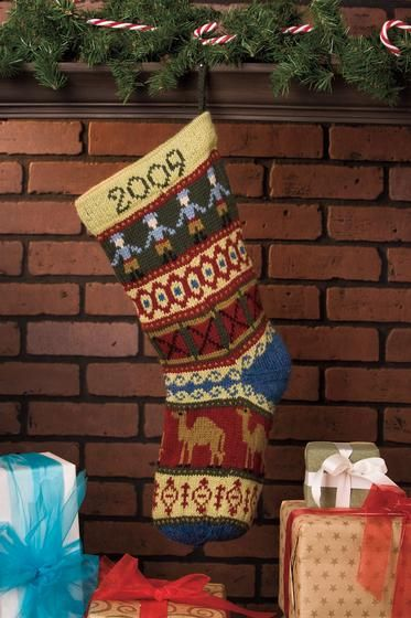 204 best Knit Christmas Stockings images on Pinterest   Knitting ...