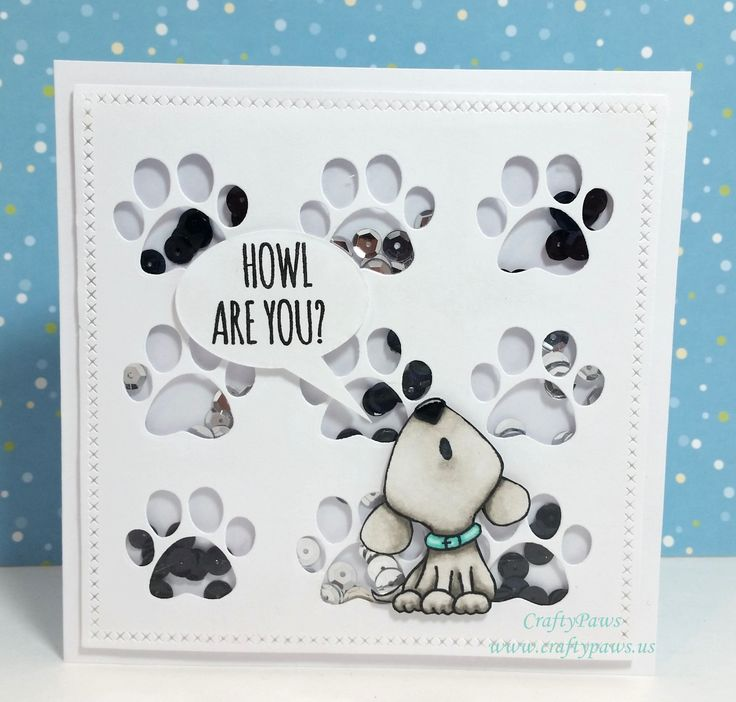 Paper Smooches Cat Dog Card Die Ideas