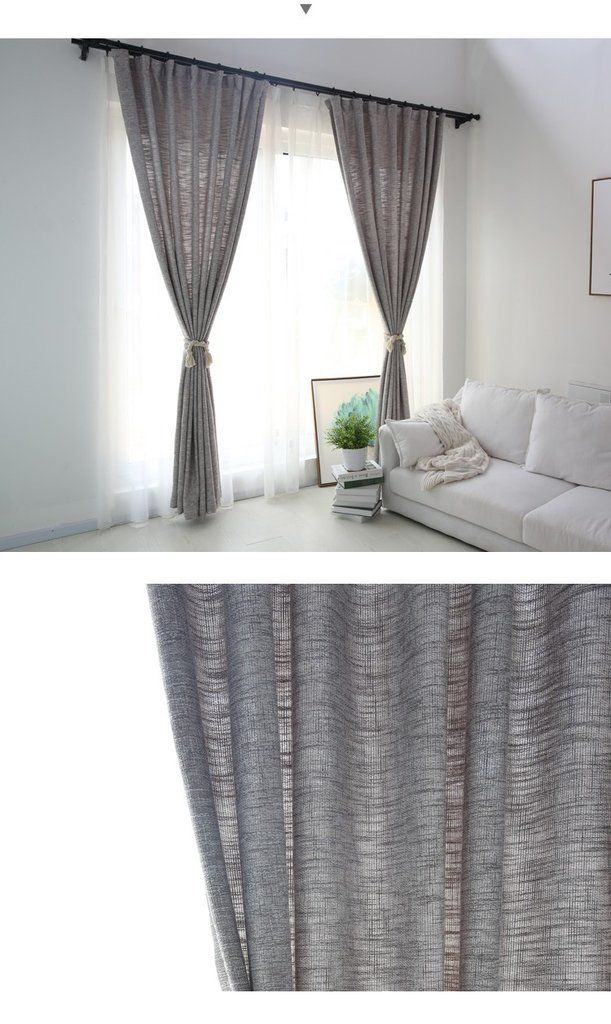 The grey charcoal burlap curtains for your bedroom. They are beautiful and neutral look.