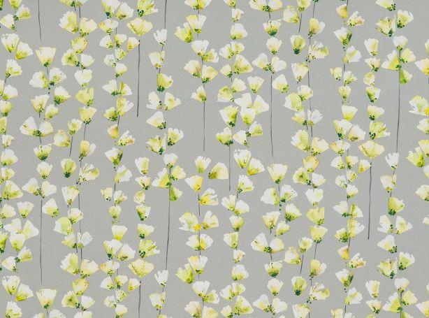 Honor Chartreuse | Saphira | Printed Cotton-Satin | Romo Fabrics | Designer Fabrics & Wallcoverings, Upholstery Fabrics