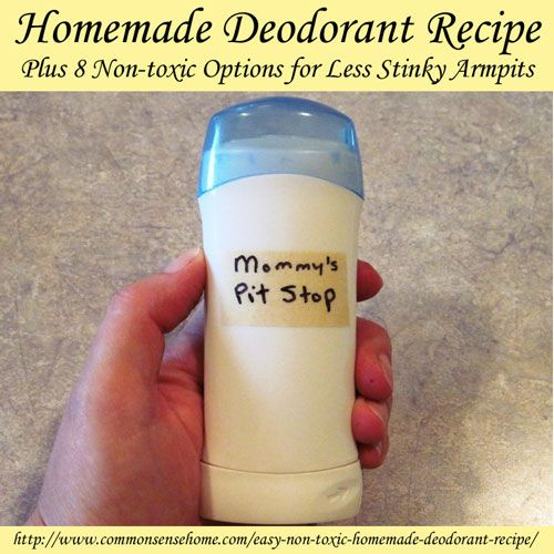 Homemade Deodorant Recipe Easy Non Toxic Homemade Common Sense And Homemade Deodorant