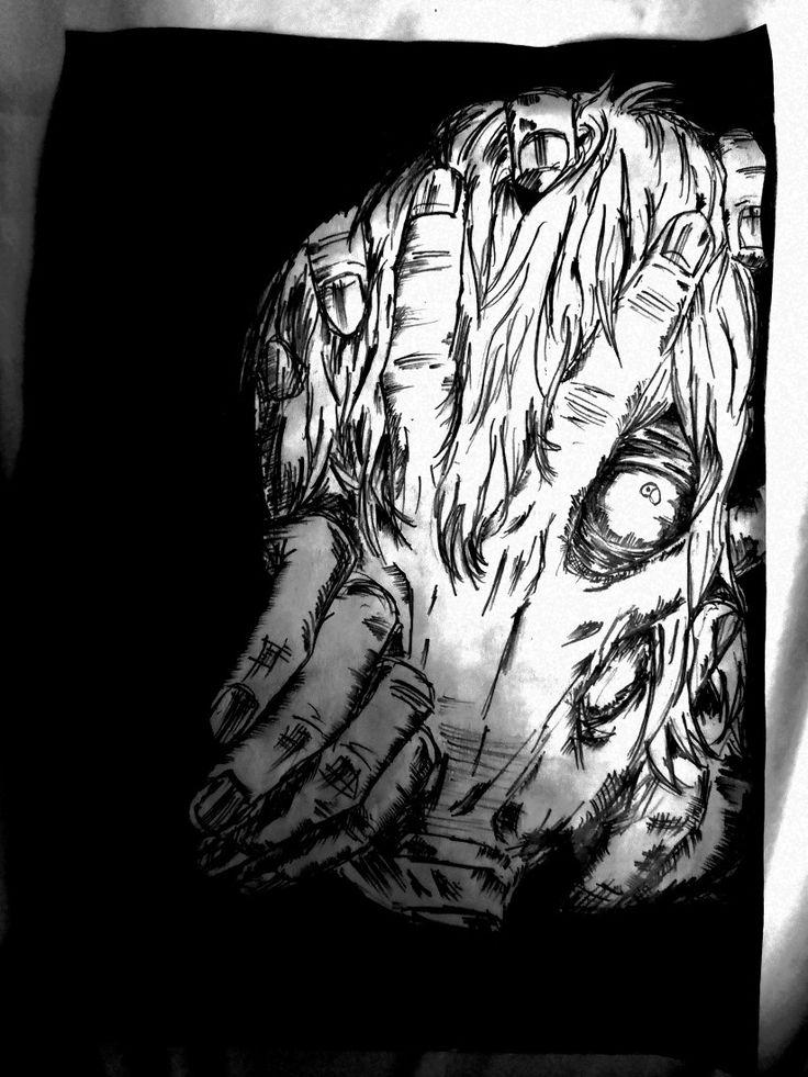 Shigaraki Tomura Anime sketch, Pencil sketch, Anime
