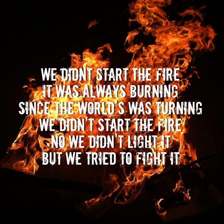 We Didn T Start The Fire Billy Joel: 28 Best Music/Lyrics Images On Pinterest