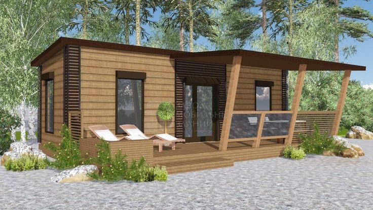 Мобильный дом 9х3 м с террасой