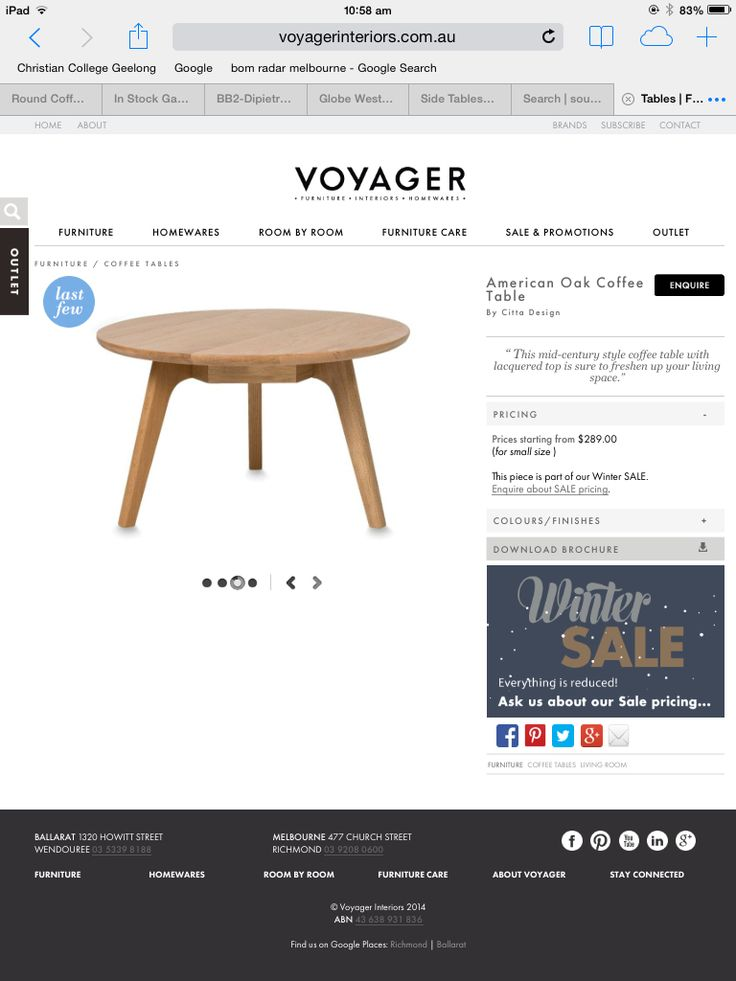 Voyager oak table