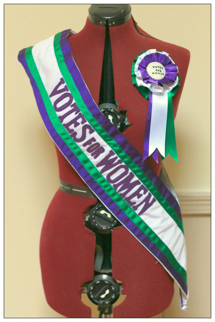 Suffragette sash and rosette for The Royal Exchange Theatre, Manchester by…