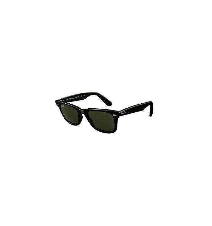 Ray-Ban Original Wayfarer Polarized Sunglasses, Black/Green, One Size