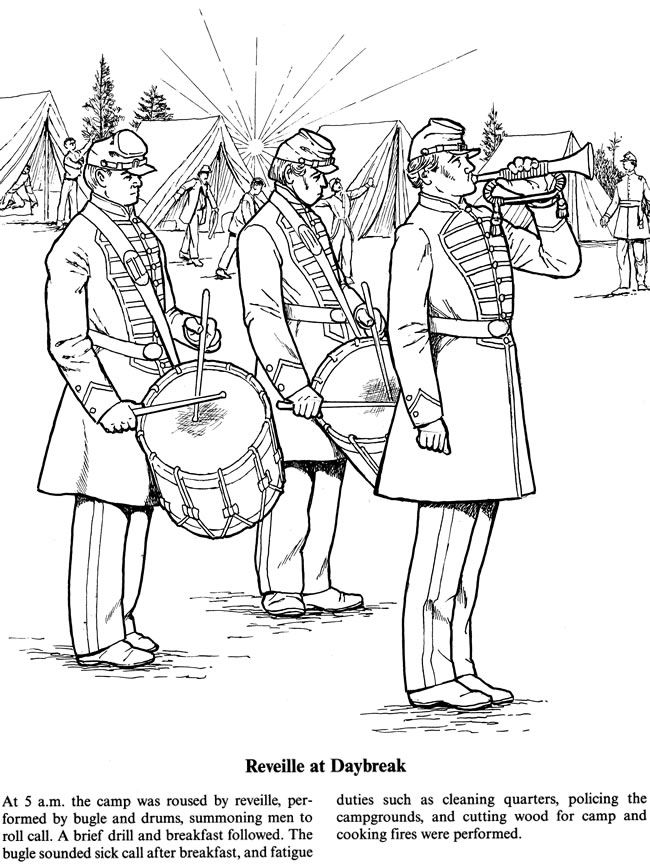 civil war solders coloring pages - photo#4