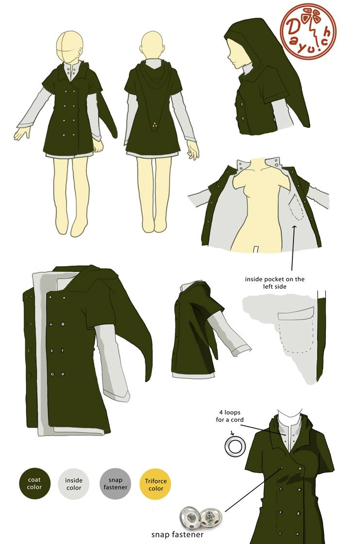 Inspiration: Awesome Link jacket, designed by Dayu on deviantart. I wanna make one of my own.