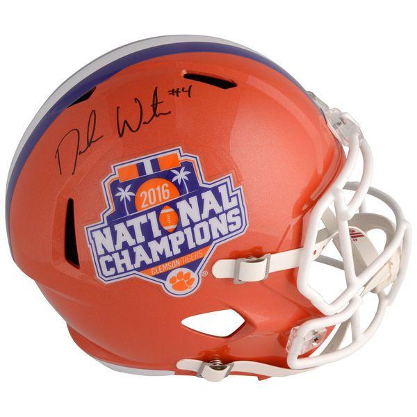 Deshaun Watson Clemson Tigers Fanatics Authentic Autographed Riddell 2016 National Champions Speed Replica Helmet - $399.99