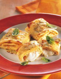 Crespelle alla ligure con mozzarella di bufala - Tutte le ricette dalla A alla Z - Cucina Naturale - Ricette, Menu, Diete