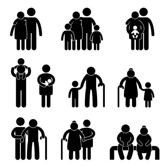 Happy Family Parent Children Father Mother Grandparent Etsy Pictogram Icon Symbols