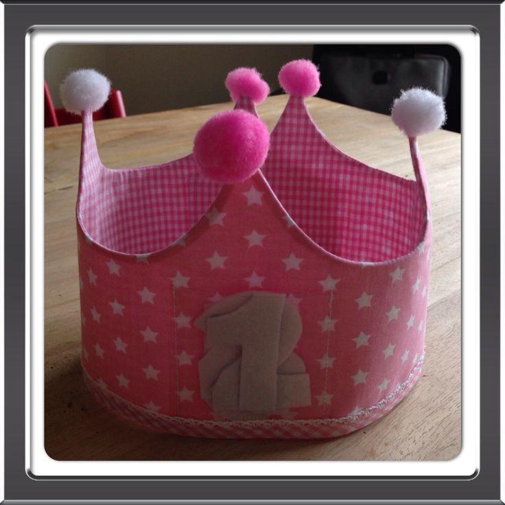 Roze Verjaardagskroon / feestmuts