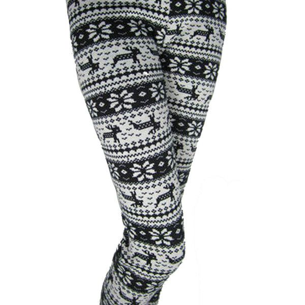 Black And White Winter Print Reindeer Warm Cotton Christmas Tights ($19) ❤ liked on Polyvore featuring intimates, hosiery, tights, 12.58$ black and white winter print reindeer warm cotton christmas tights for sale fast shipping, pants, black, christmas stockings, christmas hosiery, black white tights and cotton hosiery