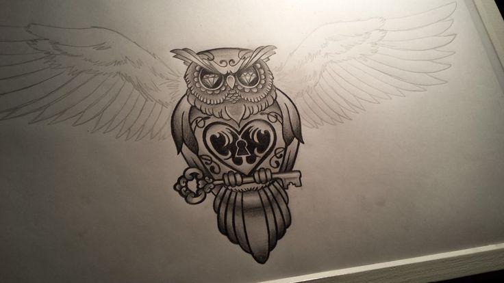 Tattoo Ontwerp - Uil