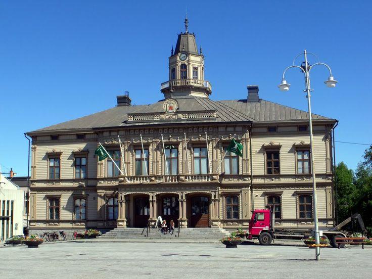 Jakobstad's rådhuset, Österbotten. Ostrobothnia province of Western Finland.- Pietarsaari, Pohjanmaa