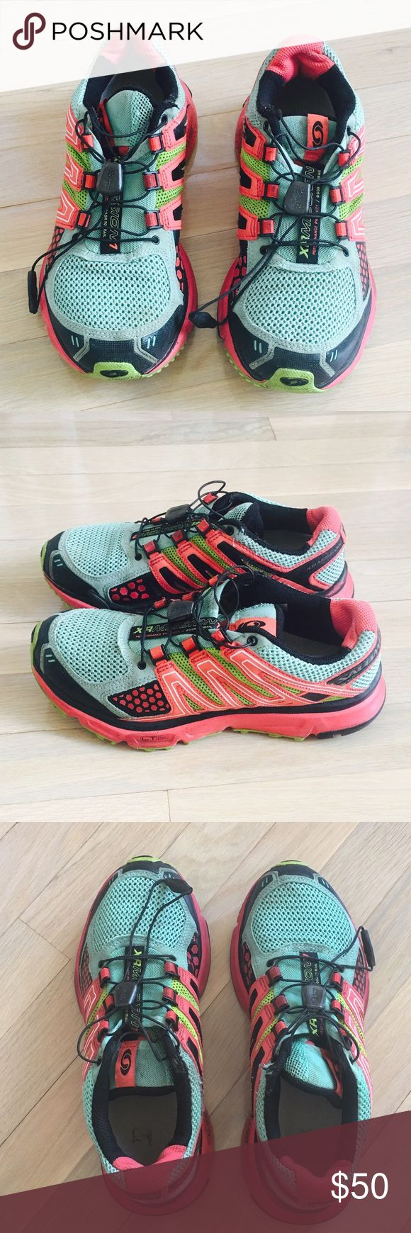 Solomon XR Mission1 trail shoes salomon trail running shoes, Breathable mesh upper reduces moisture buildup Sensifit and Sensiflex promote smooth motion foam footbed reduces friction Rugged Contagrip outsole for traction Quicklace system for fast, secure lacing Salomon Shoes