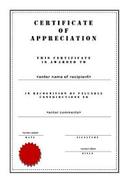 Image result for certificate of appreciation