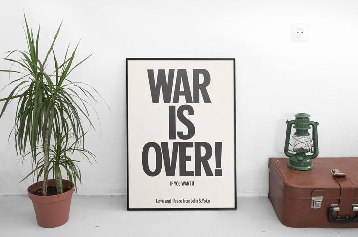 """Excited to share the latest addition to my #etsy shop: WAR IS OVER Poster - Yoko Ono and John Lennon Print - 1969 Iconic Artwork Poster - Anti War Protest Poster - Art Size 13x20"""" 24x36"""" 32x48"""" http://etsy.me/2zv8fyO #art #print #digital #warisoverposter #yokoonoandjohn #lennonpr"""