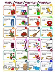 Demonstratives - THIS, THAT, THESE, THOSE. To show them better how it works on English so we have a better grasp in Spanish.