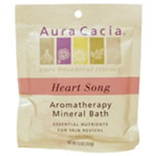 Mineral Bath Salts Heartsong 2.50 Ounces by Aura Cacia. $2.44. Serving Size:. 2.5 Ounces Bag. Sweet roses Calming, softening, nourishing, soothing