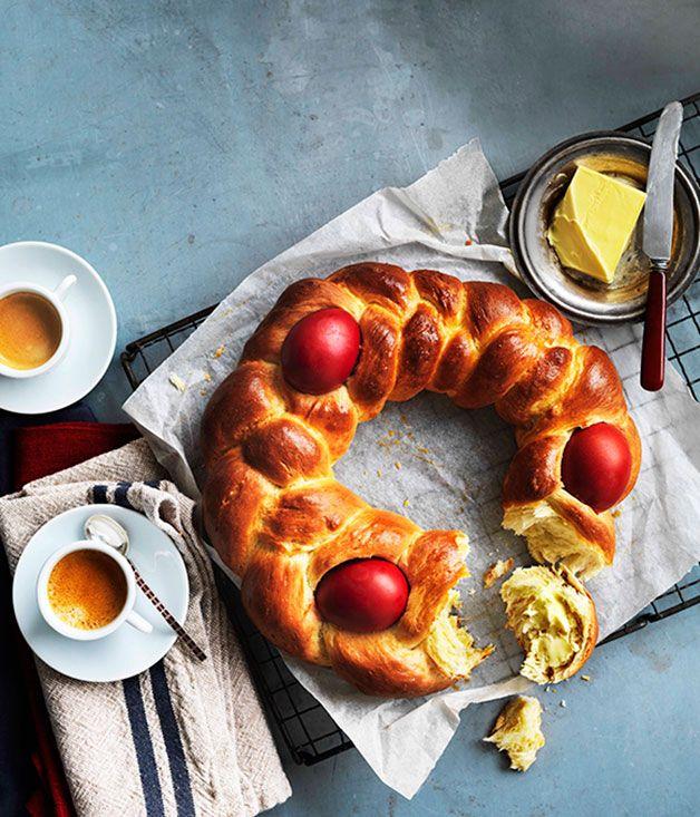 Greek Easter bread (Tsoureki) | greek bread | Pinterest