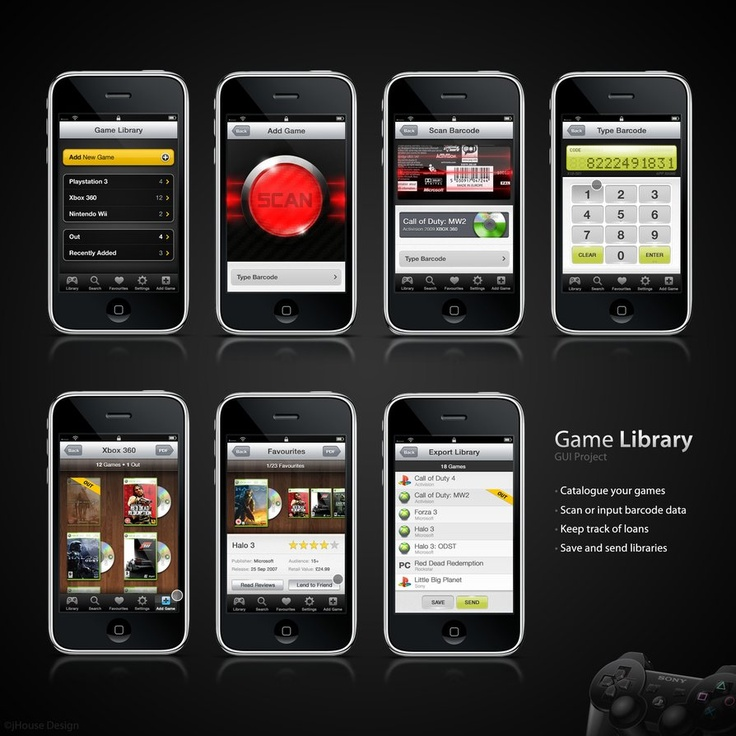 Game Catalogue App by jhousedesign. #interface
