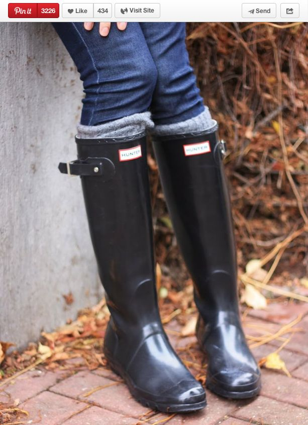 How to clean rainboots - how clever!!