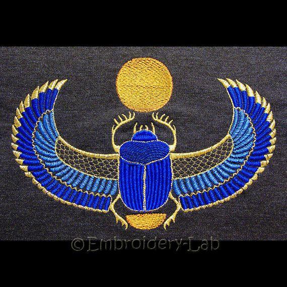 Scarabée égyptien grand  design de par EmbroideryLabDesigns sur Etsy
