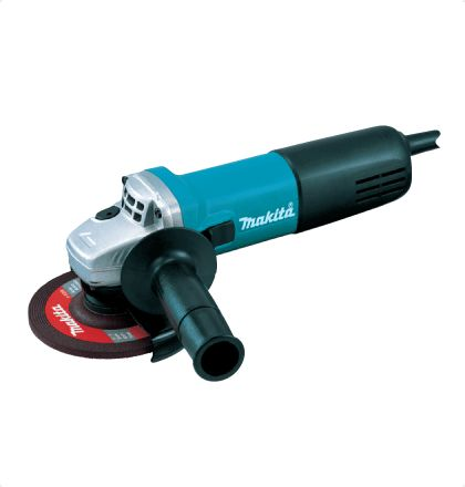 Makita 9558NB Angle Grinder     High performance motor with enough power for masonry cutting and high heat resistance.     Labyrinth construction protects all ball bearings from dust and debris.     Small circumference barrel grip for easy handling.     Shaft lock for easy wheel changes.     Easier repairing of gear section assembled with key. For More Details: http://www.mrthomas.in/makita-9558nb-angle-grinder_54