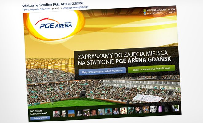 PGE Arena: Opening of a virtual stadium - Jamel Interactive interactive agency Gdansk, Tricity