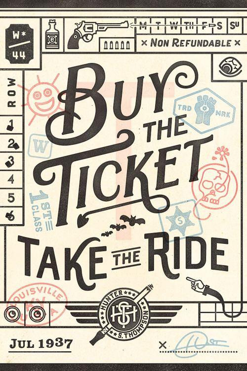 No.44/Richie Stewart: Hunter, Graphic, Quotes, Buy, Ticket, Wander Postcard, Typography, Design