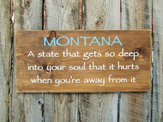 Rustic Home Decor Rustic Montana Sign Montana by BearlyInMontana
